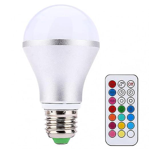yunnuo Promi E27 inalámbrica mando a distancia Stoffkontor RGBW RGB Bombilla LED cambio de color Lámpara