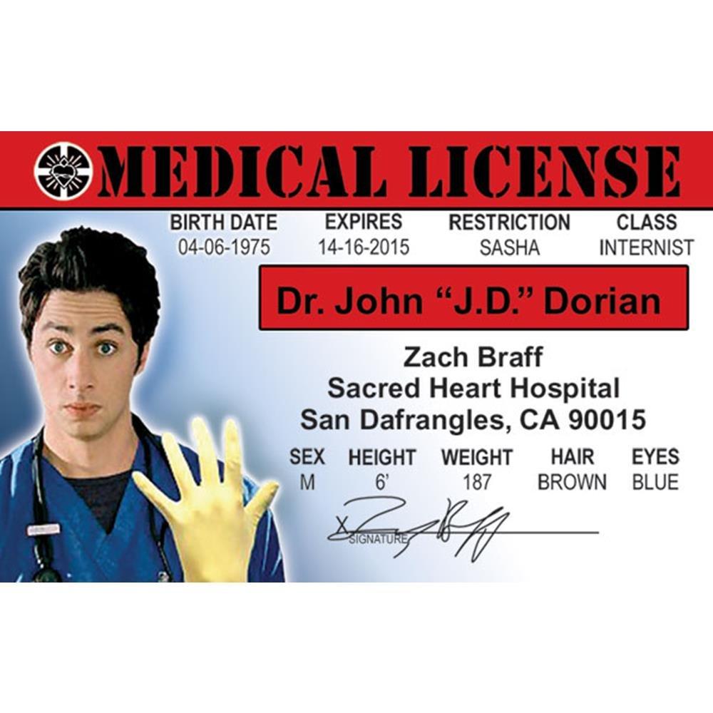 s Drivers License Scrubs Signs 4 Fun NHOID3 Zach