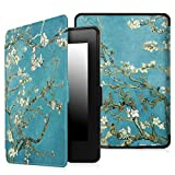 Fintie Case for Kindle Paperwhite - Premium Thinnest and Lightest PU Leather Cover With Auto Sleep/Wake for All-New Amazon Kindle Paperwhite (Fits All 2012, 2013, 2015 and 2016 Versions), Blossom