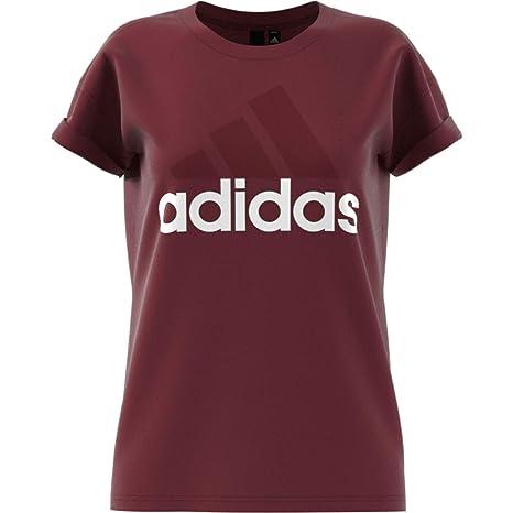 adidas ESS Lin Lo Camiseta, Mujer, Granate Noble, XS