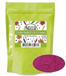 100% Pure Purple Sweet Potato Powder(Purple Yam Ube) 8 Ounces, All Natural Purple Dry Food Coloring Powder for Baking, Smoothies, Pasta, Tortillas, Vegan Gluten Free Non-GMO NO Added Sugar