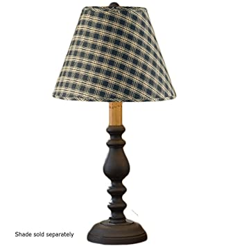 Large black candlestick lamp