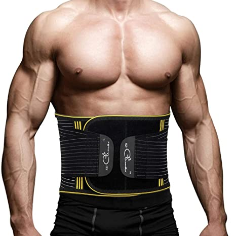 6270903c2e SZ CLIMAX Back Support Adjustable Lumbar Back Brace Lumbar Support Belt  with Dual Adjustable Straps for
