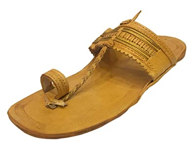 b02c597437e9 Step n Style Men Sandal Handmade Leather Shoes Flipflop Traditional  Kolhapuri Chappal Camel