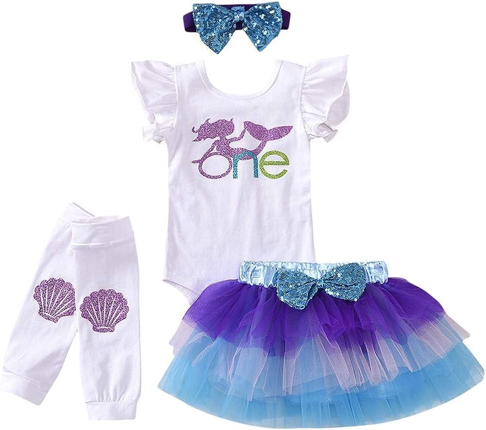 Miyanuby Baby M/ädchen Kleidung Set Bowknot Rosa Baumwolle Strampler Bodysuit Tutu Rock Prinzessin Party Kleider
