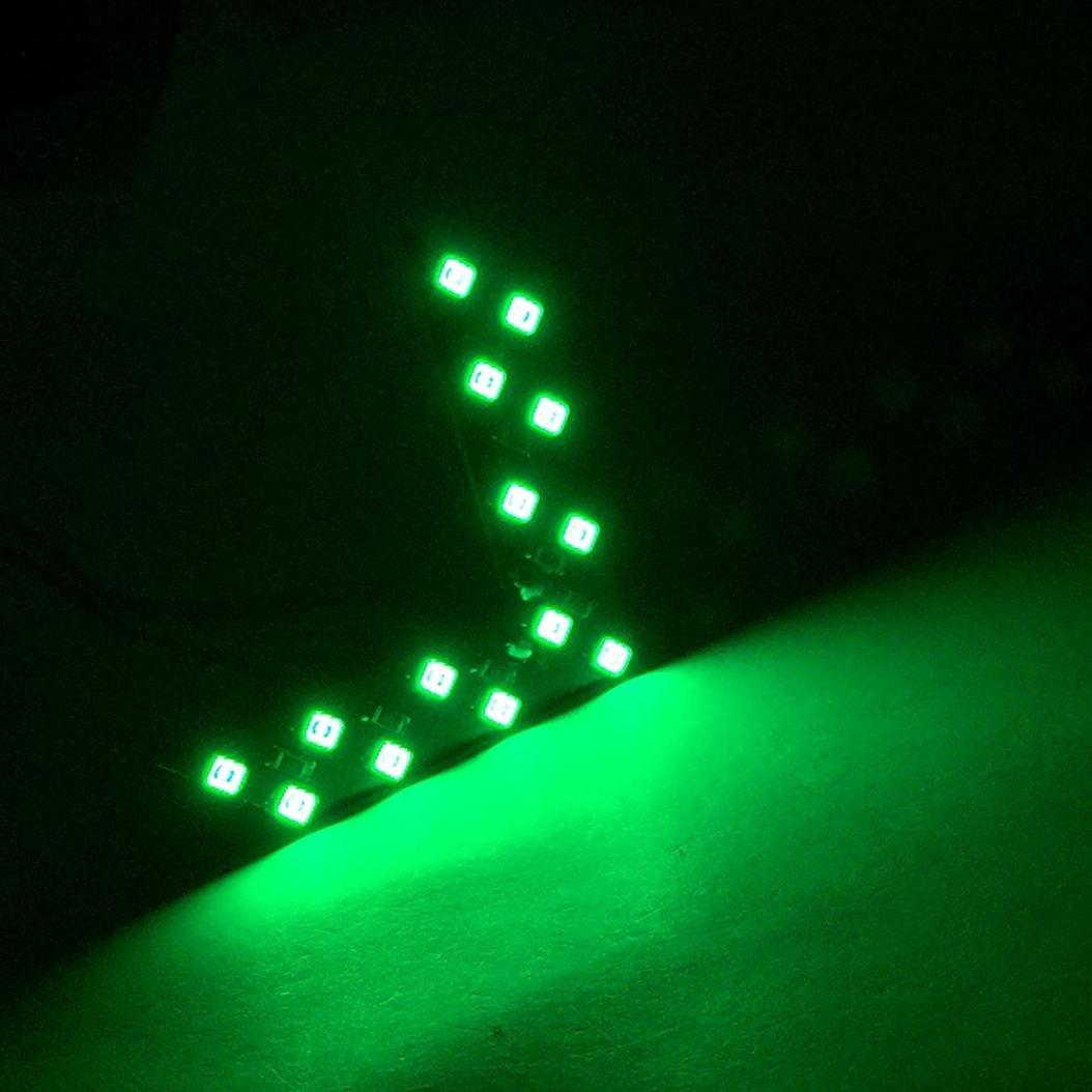 Chezaa LED Light Bulbs,12 v DC 14 SMD LED Arrow Panel for Car Rear View Mirror Indicator Turn Signal Light (Green) by Chezaa (Image #1)