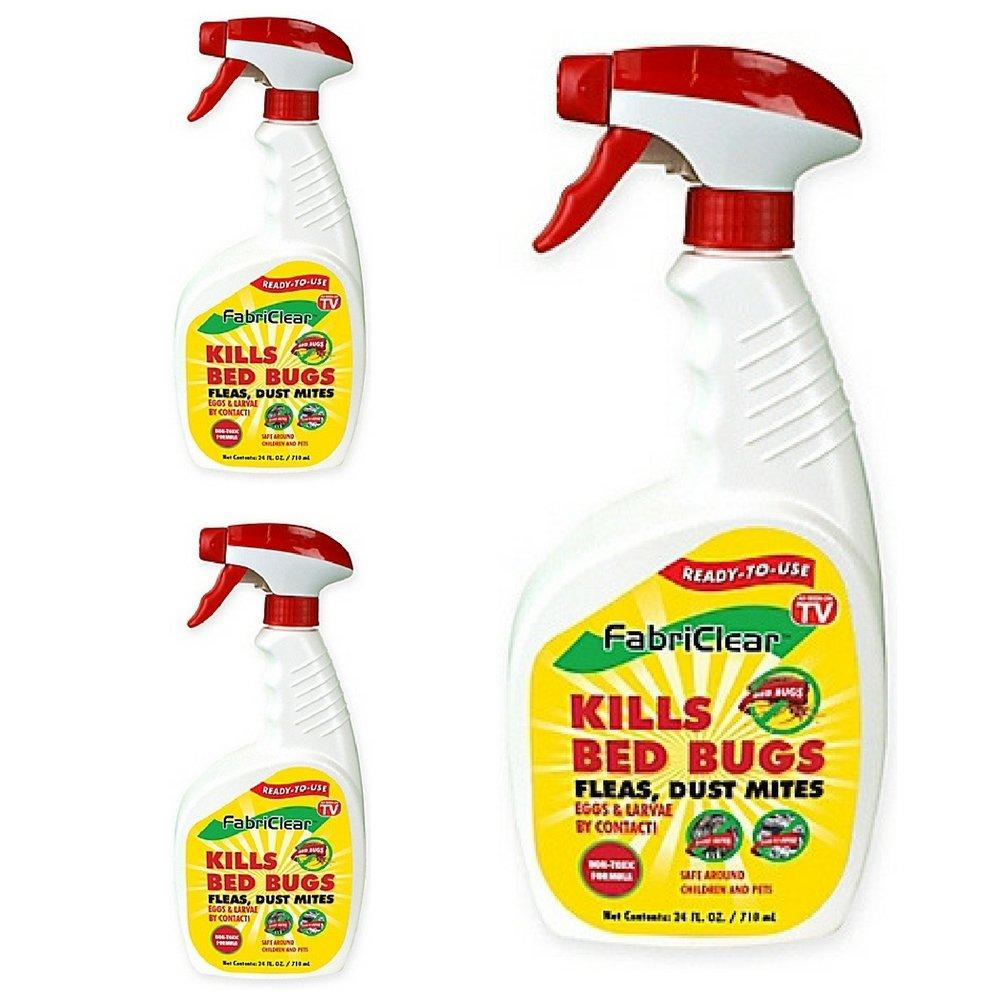 Fabriclear Bed Bug Spray, 24 Ounce Spray (3 pack)