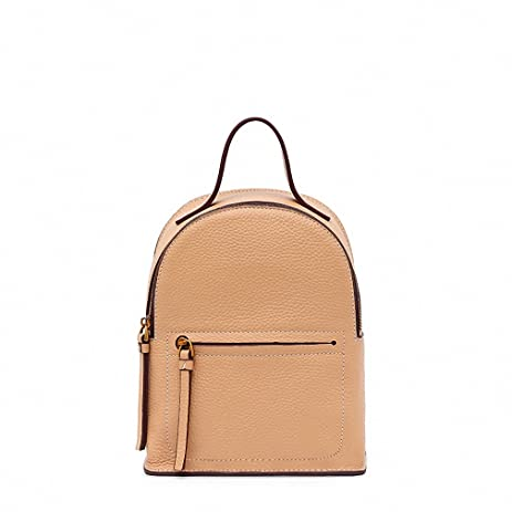c474d1c84b45 Mini Women Backpacks Genuine Leather School Bag Small Backpack for Girls  Bagpack Apricot yellow large