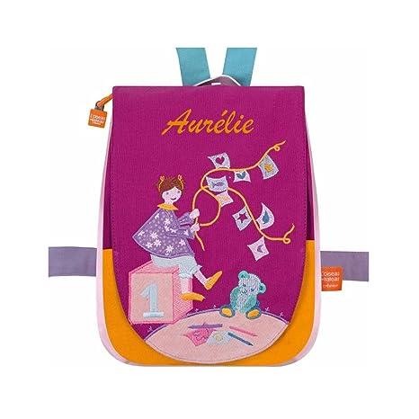 9204b6d2ca Zaino per bambini coperta e orsetto personalizzato: Amazon.it: Valigeria