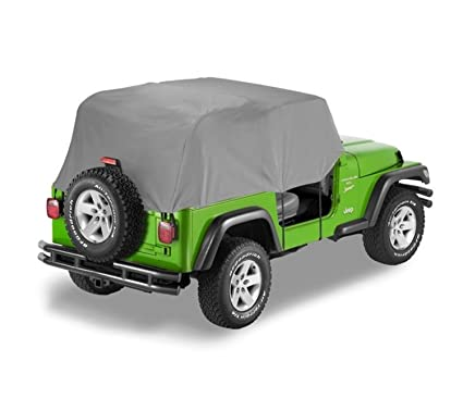 46693b92e83 Amazon.com: Bestop 81036-09 Charcoal All Weather Trail Cover for 1992-1995  Wrangler YJ: Automotive