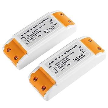 YUNLIGHTS 2pcs 36W LED Transformador del Conductor Transformador para LED Bombillas DC 12V 3A: Amazon.es: Bricolaje y herramientas