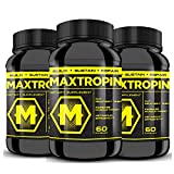 MAXTROPIN - Increase Muscle Mass, Cut Recovery Time, EXPLOSIVE Workouts! (3 Bottles)