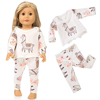 76fc6450e487 Amazon.com  Theshy Cute Sleepwear Pajamas Nightgown for 18 inch Our  Generation American Girl Doll Sleepwear Pajamas Fits 18 Inches American Girl  Dolls  Toys ...