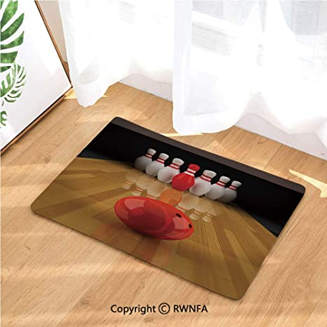 Amazon.com: Kitchen Rugs Runners Alley with Red Skittle in ...