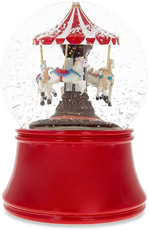 BestPysanky Spinning Carousel Musical Box Snow Globe: Amazon.es: Hogar