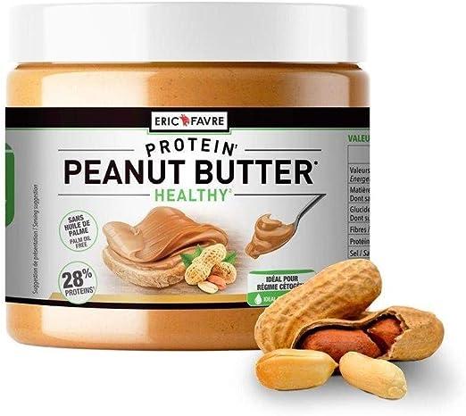 Peanut Butter – Manteca de cacahuetes – 100 % natural y útil, rico en proteína – para dieta cegénica, sin azúcar añadido, sin aceite de palma, bote de ...