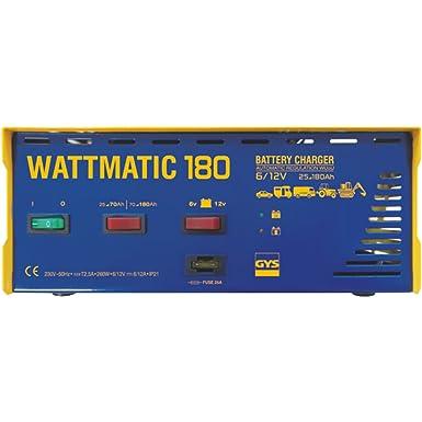 Gys Automatisches Batterieladegerät 6 12 V Wattmatic 180 Gewerbe Industrie Wissenschaft