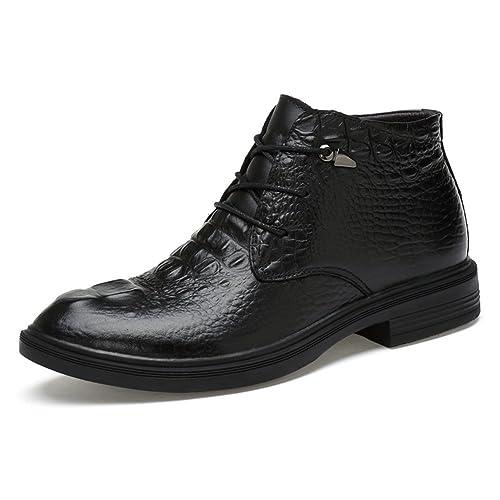 ailishabroy Zapatos de Cordones Altos para Hombres Zapatos de Cuero Negros  para Invierno Cálido  Amazon.es  Zapatos y complementos 55aaf936d17ae