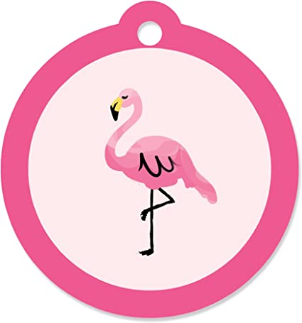 Wedding Birthday Party Gift Labels Tags Hanging Cards 100 Flamingo Tags