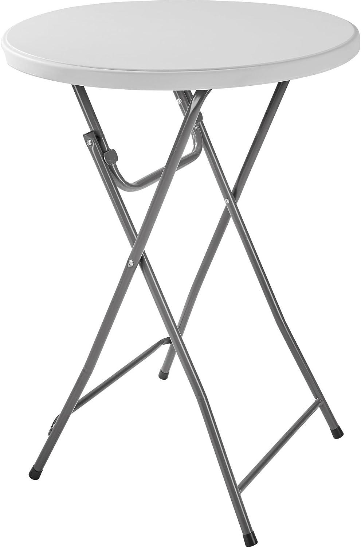 TecTake Mesa Redonda bistró de Bar Alta Altura 110 cm Ø 80cm | Plegable | Carga: 180kg (1x Mesa | No. 402758)