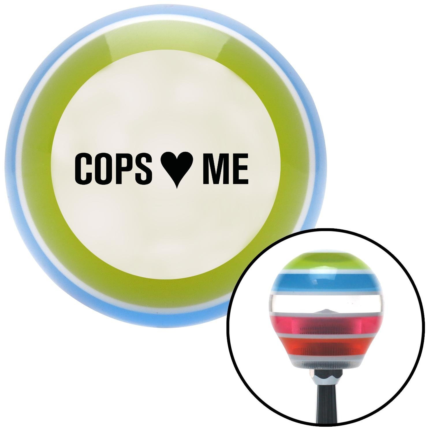 Black Cops 3 Me American Shifter 137738 Stripe Shift Knob with M16 x 1.5 Insert
