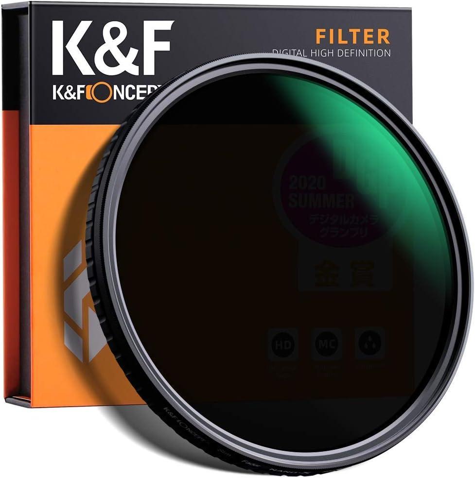 K&F Concept 52mm Fader ND Filter Neutral Density Variable Filter ND2 to ND32 for Camera Lens NO X Spot,Nanotec,Ultra-Slim,Weather-Sealed