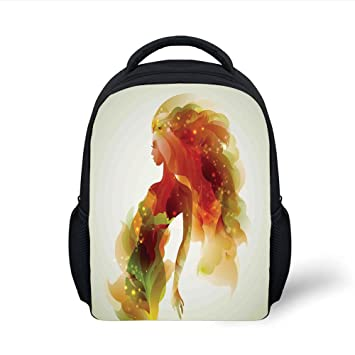 e2318d108769 Amazon.com: iPrint Kids School Backpack Girls,Girl Figure with ...