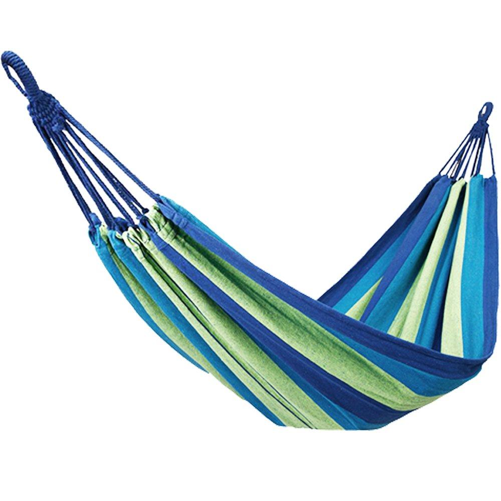 u-bcooポータブルハンモックガーデンハイキングキャンプビーチインドアとアウトドアパラシュートハンモック B07527XH35 BLUE/Colorful BLUE/Colorful