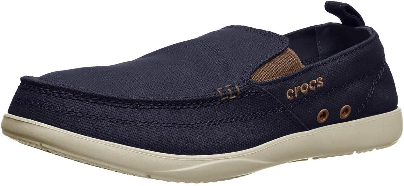 Crocs Mens Walu Canvas Slip-On Loafer
