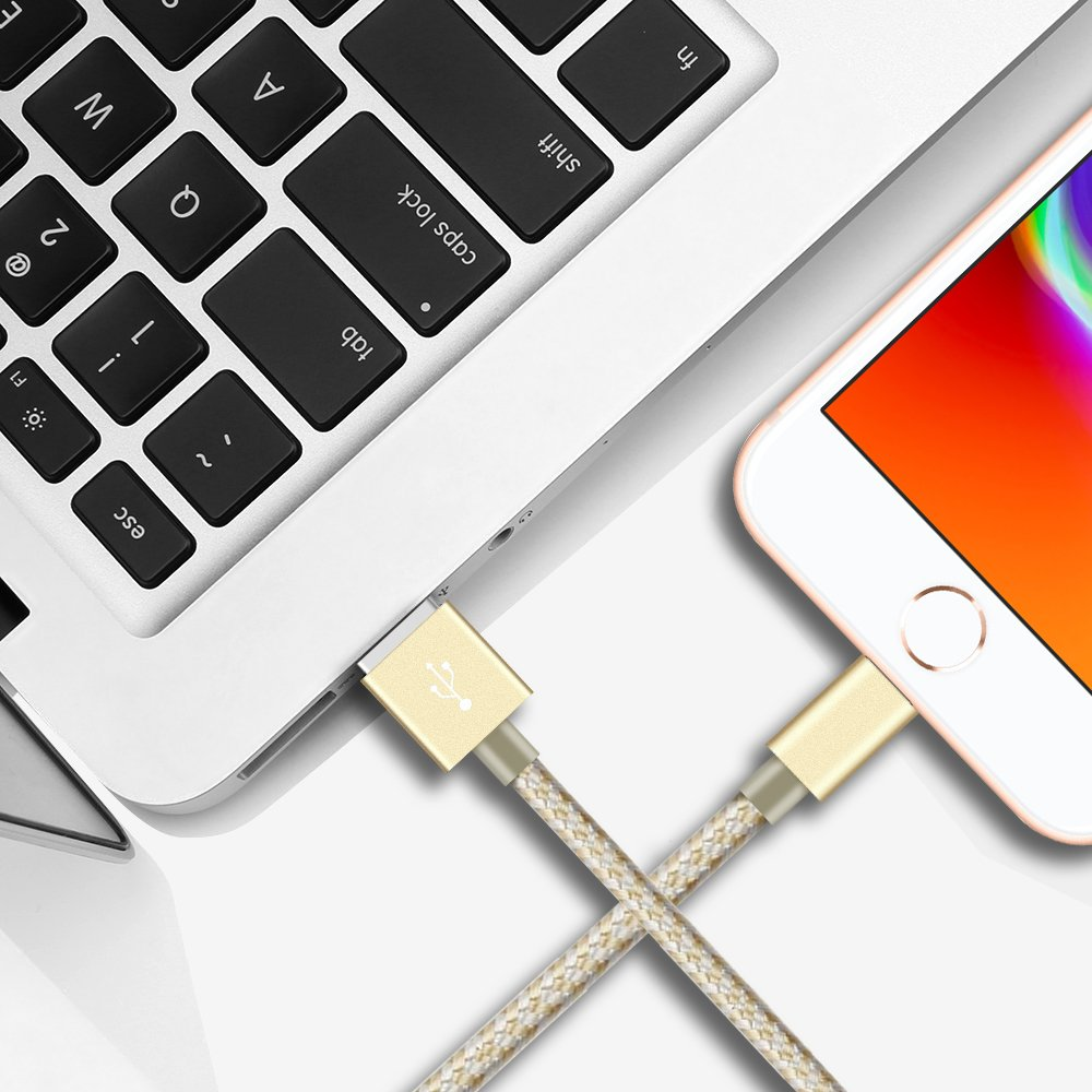 DANTENG Compatible with Phone Cable,Phone Charger 5Pack 3FT 6FT 6FT 10FT 10FT Nylon Braided Compatible with Phone Xs//XS Max//XR//X//Phone 8 8 Plus 7 7 Plus 6s 6s Plus 6 6 Plus Pad Pod Nano Silver