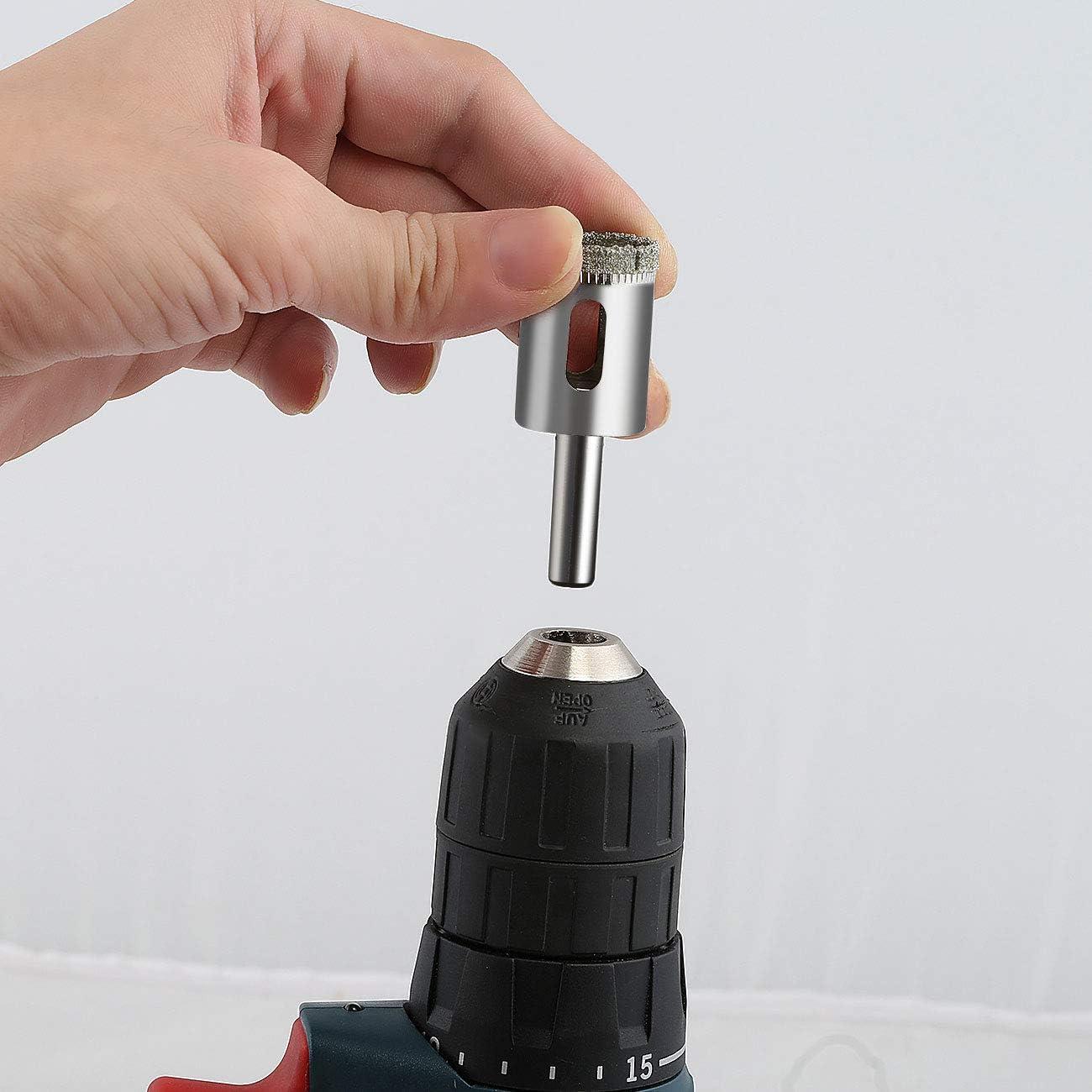 Porcelana Perforar en Vidrio Azulejo 6mm-50mm M/ármol Cer/ámica 15Pcs Juego de Taladro Diamante la mejor calidad Acero al Carbono Ertisa Broca Diamante