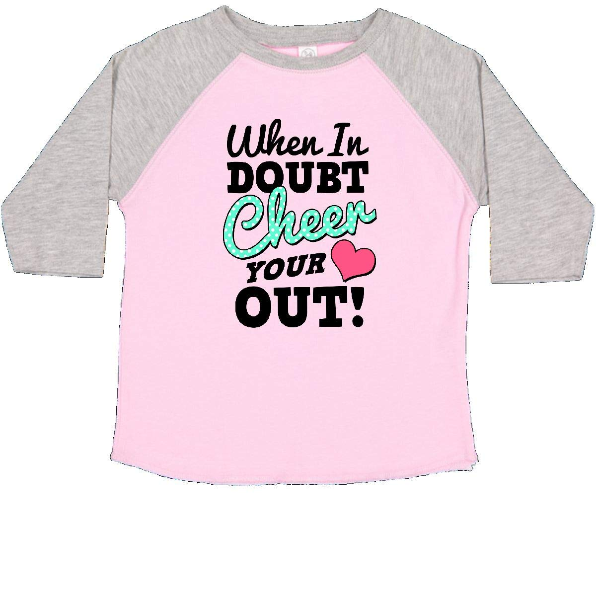 inktastic Cheerleading When in Doubt Cheer Your Heart Out Toddler T-Shirt