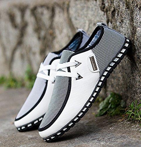 Classique Casual Conduite Pois XIGUAFR Chaussures Hommes Printemps de Chaussures Automne Blanc et Légère qxvqw4A1