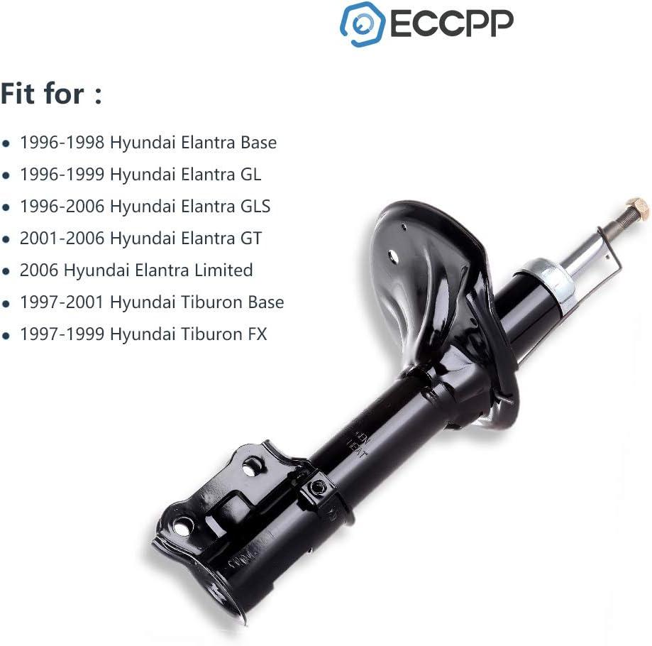 Shocks and Struts,ECCPP Front Pair Shock Absorbers Strut Kits Compatible with 1996 1997 1998 1999 2000 2001 2002 2003 2004 2005 2006 Hyundai Elantra,1997 1998 1999 2000 2001 Hyundai Tiburon 333206