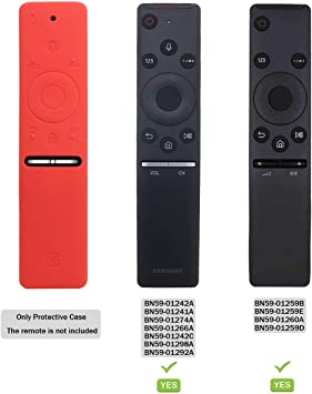 Funda para el Mando a Distancia Case Samsung 4K UHD Smart TV SIKAI Antideslizante de BN59-01259B BN59-01242A Silicona Carcasa Funda Case con Cordón respetuosa con el Medioambiente (Rojo): Amazon.es: Electrónica