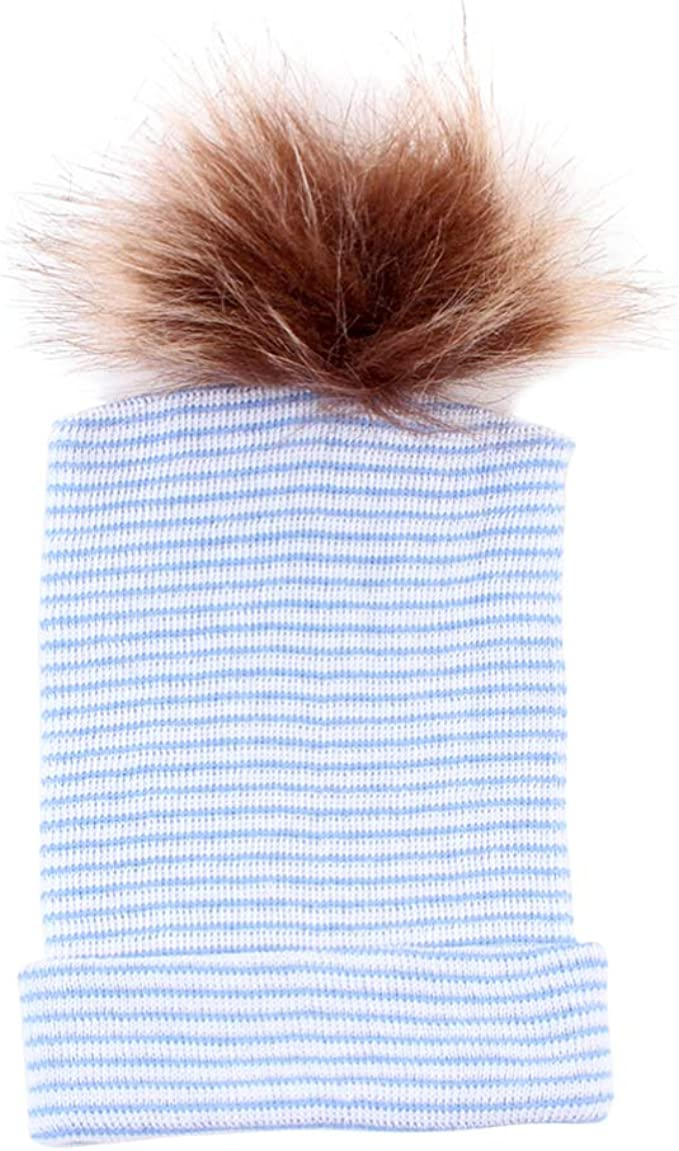 Toyvian Gorros para Niños Gorros de Algodón Recién Nacidos Bola de Pelo para Bebés Sombrero Cómodo Y Cálido Sombrero Infantil Gorro de Invierno para Bebés Tocado para Exteriores (Azul): Amazon.es: Ropa y