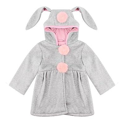 Bébé Enfant Fille Manteau Mignon lapin à Capuche Vetements d'automne printemps