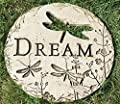 "Roman 12"" Dragonfly Cut-Out Dream Decorative Garden Patio Stepping Stone"