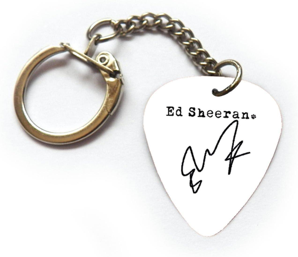 Firma de Ed Sheeran púa de guitarra Plectrum llavero pulsera collar pendientes Pin, 6x Full Set: Amazon.es: Instrumentos musicales