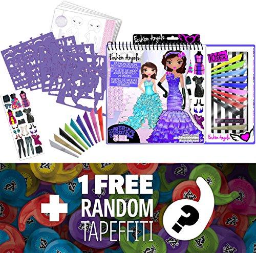Glam Fashion Sketch Portfolio with Artist Deluxe Set + 1 FREE Mini-Tapeffiti Bundle [117021]