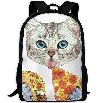 Space Cat Eating Pizza Luxury Print Men And Women's Travel Knapsack