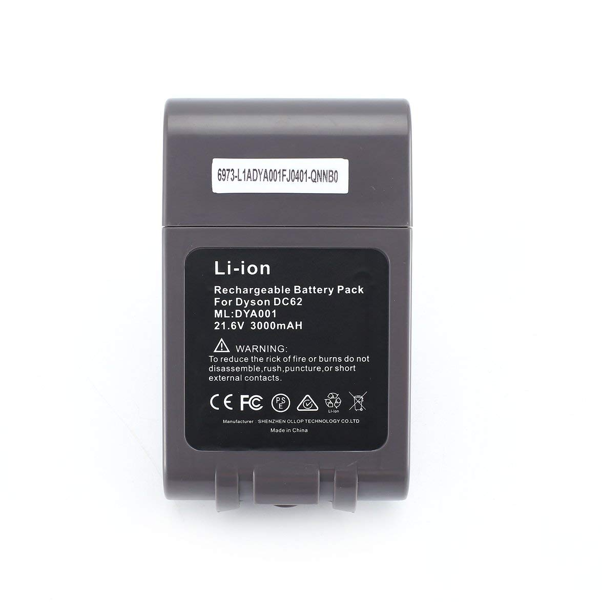 Pandamama 21.6V 3000mAh Li Ion Rechargeable Replacement Battery for V6 DC58 DC59 DC61 DC62 DC74 SV09 SV07 SV03 965874-02