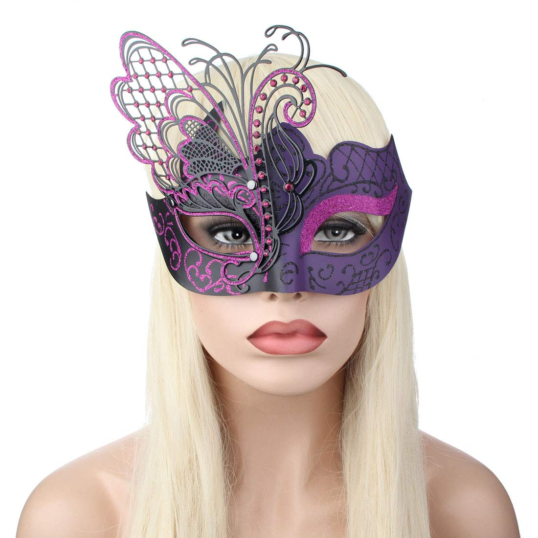 IETANG Couple Mask Half Venetian Masquerade Ball Mask Party Costume Accessory