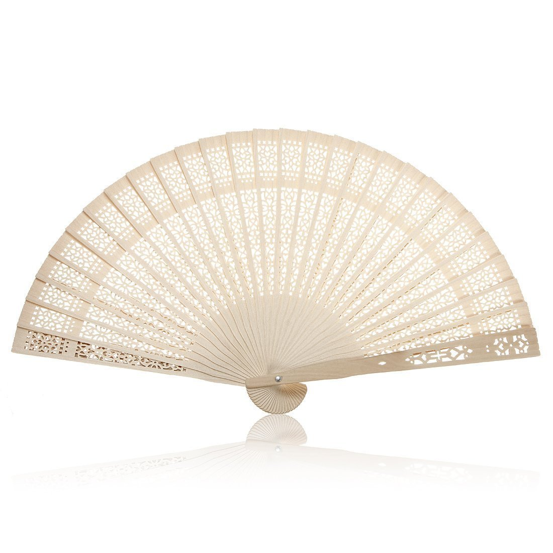 Summer Vintage Folding Bamboo Wooden Carved Hand Fan Wedding Bridal ...