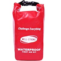 WELL-STRONG Waterproof First Aid Kit Light and Durable for Car, Sports, Travel, Survival, Emergency, Outdoor Camping…