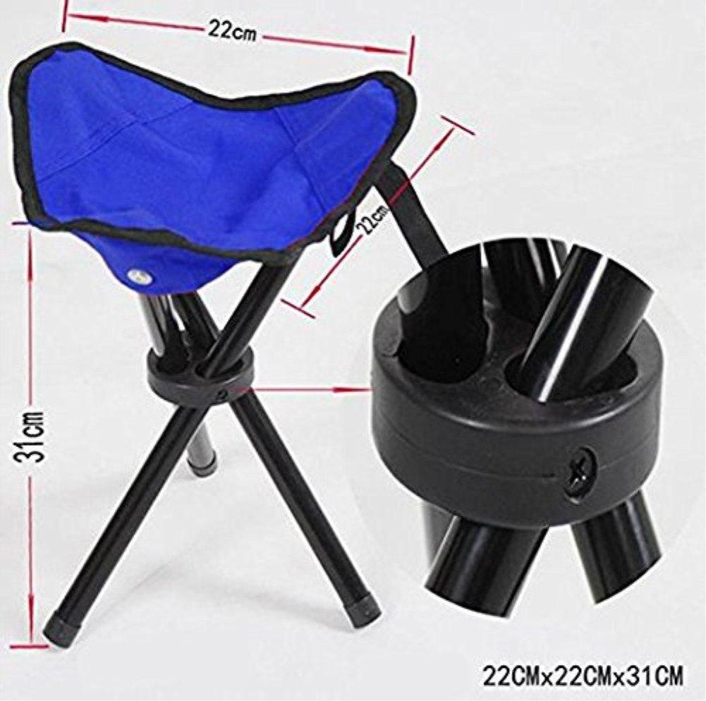 es una silla ligera de peso ideal para llevar de viaje; para acampar Silla con tres patas plegable y port/átil de Vikenner etc hacer senderismo de color rojo pescar