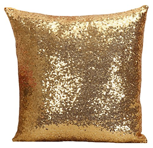 LivebyCare Multi-size Glitter Sequin Cushion Cover Satin Sparkling Throw Pillow Case Sham Pattern Zipper Pillowslip Pillowcase For Decor Decorative Home Sofa Bedroom