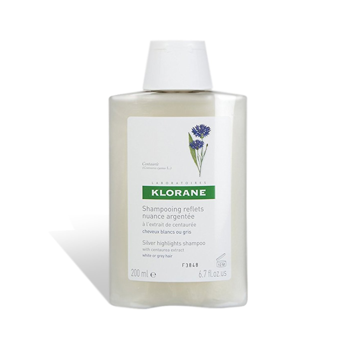 Klorane Shampoo with Centaury for White & Gray Hair, 6.7 fl. oz.