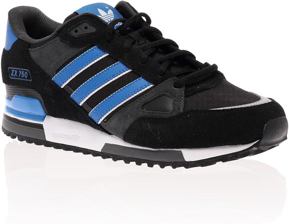 Mens Adidas Originals Black Blue White Zx 750 Casual Trainers ...