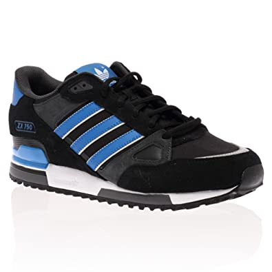 b705604af Mens Adidas Originals Black Blue White Zx 750 Casual Trainers Shoes Size 9
